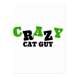 Crazy Cat Guy Postcard