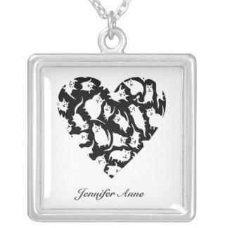 Crazy Cat Heart Custom Necklace