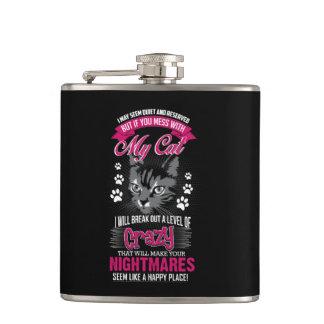 Crazy Cat Hip Flask