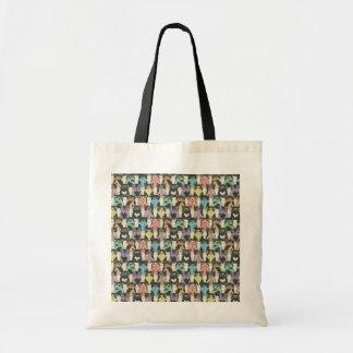 Crazy Cat in Glasses Tote Bag