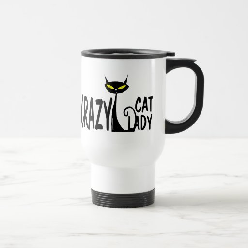Crazy Cat Lady 15 Oz Stainless Steel Travel Mug