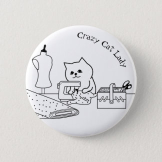 Crazy Cat Lady Badge 2 Inch Round Button