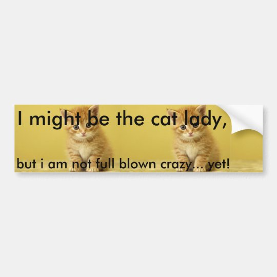 Crazy Cat Lady Bumper Sticker