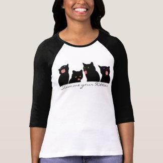 Crazy Cat Lady Cats Licking Windows T-Shirt