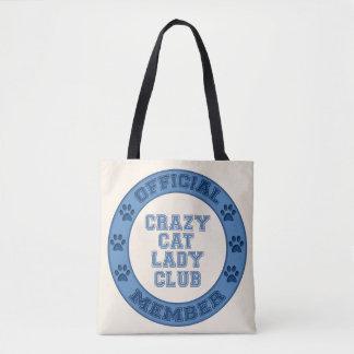 Crazy Cat Lady Club Logo Fabric Bag
