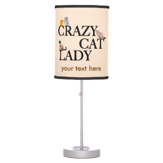 Crazy Cat Lady Custom Ivory Table Lamp