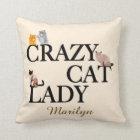 Crazy Cat Lady Custom Ivory Throw Pillow