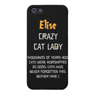 Crazy Cat Lady Customizable Case For iPhone 5/5S