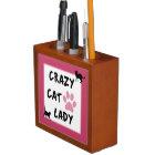 Crazy Cat Lady Desk Organizer