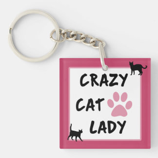 Crazy Cat Lady Double Sided Keychain