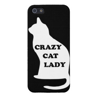 Crazy Cat lady feline animal pet pets cats people iPhone 5 Cases