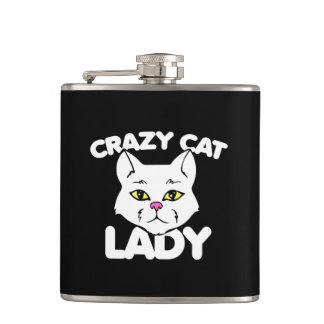 Crazy cat lady flasks