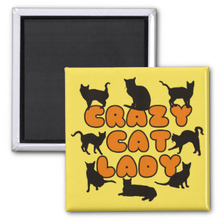 Crazy Cat Lady - Funny cats Magnet