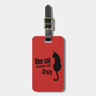 Crazy Cat Lady Funny Meow Luggage Tag