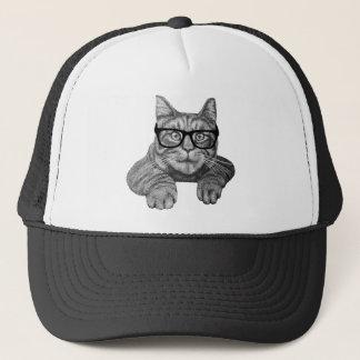 crazy cat lady geek cat trucker hat