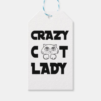 crazy cat lady gift tags