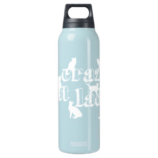 Crazy Cat Lady (in all colours) Insulated Water Bottle