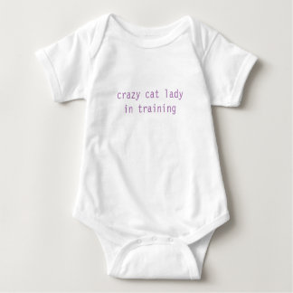 crazy cat lady in training baby CUTE! Baby Bodysuit