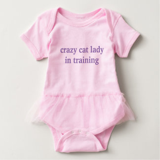 crazy cat lady in training baby tutu CUTE bodysuit