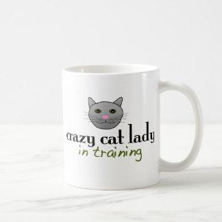 Crazy cat lady in training coffee mug