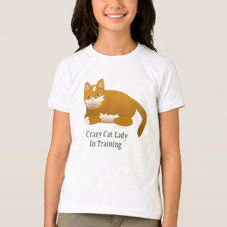 Crazy Cat Lady in Training Girl's T-shirt