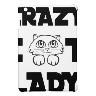 crazy cat lady iPad mini case