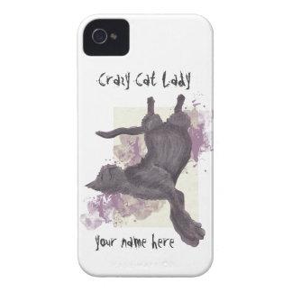 Crazy Cat Lady iPhone 4 Cases