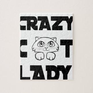 crazy cat lady jigsaw puzzle