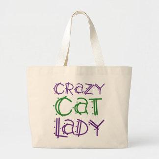 Crazy Cat Lady Large Tote Bag