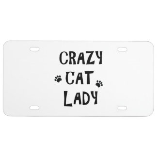 Crazy Cat Lady License Plate