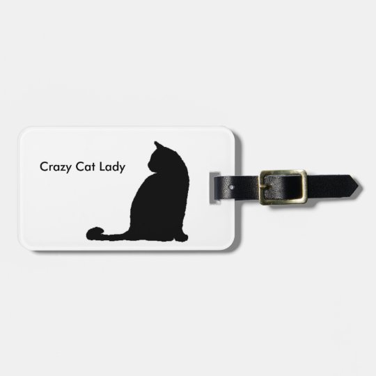 Crazy Cat Lady luggage tag - customise!