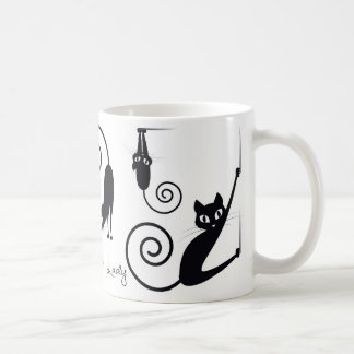 Crazy Cat Lady Mug, With Stylish Cats Coffee Mug