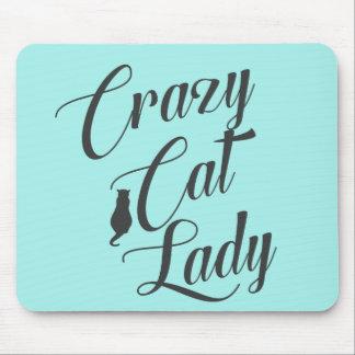Crazy Cat Lady Pet Cat Lover Mouse Pad