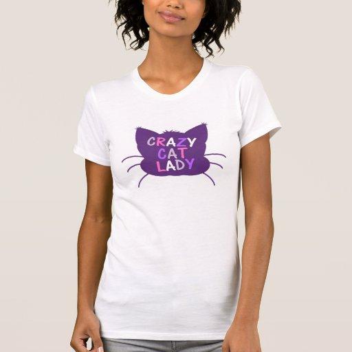 crazy cat lady - Purple Tee Shirts