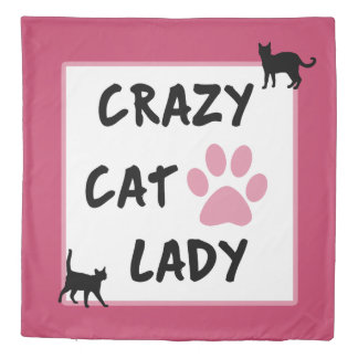 Crazy Cat Lady Queen Size Duvet Cover