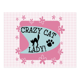 Crazy Cat Lady - Retro Postcard