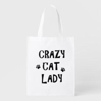 Crazy Cat Lady Reusable Grocery Bag