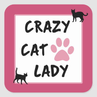 Crazy Cat Lady Square Sticker