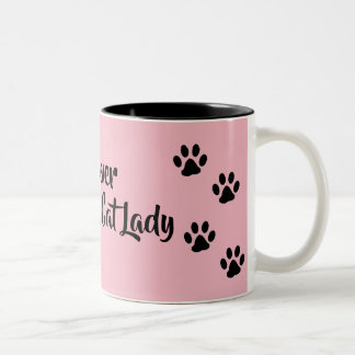 Crazy Cat lady Two-Tone Coffee Mug