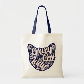 Crazy Cat Lady Vintage Kitty Tote Bag