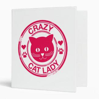 Crazy Cat Lady Vinyl Binder