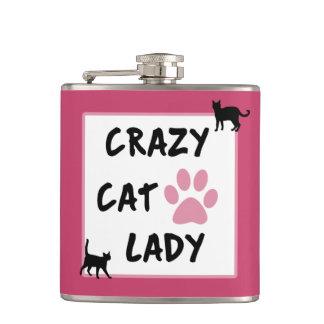 Crazy Cat Lady Vinyl Wrapped Flask