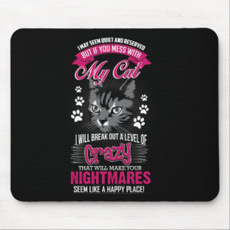 Crazy Cat Mouse Pad
