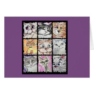 Crazy Cat notecards Card