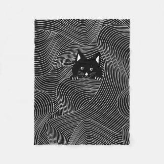 Crazy Cat Pattern Fleece Blanket