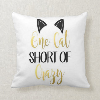 Crazy Cat Person Pillow