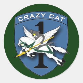 Crazy Cat - RR Vietnam Round Sticker