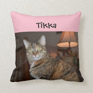 Crazy Cat Throw Pillow