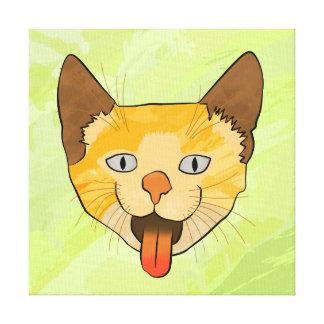 Crazy Cat Vector Art Canvas Print