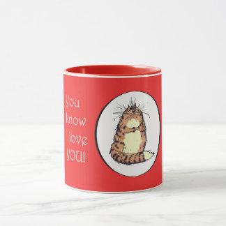 Crazy cat, You know I love you.Mug. Humor. Mug